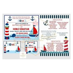 Image result for nautical invitation baptism Nautical Baptism, Nautical Invitations, Some Fun, Sailor, Flag, Science, Flags, Nautical