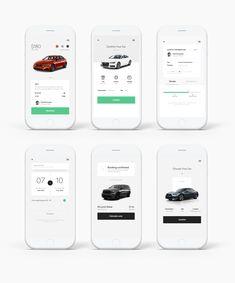 png by Hrvoje Grubisic Ui Design Mobile, Design Ios, Auto App, Fancy App, Drive App, Motion App, Car App, Iphone Ui, App Design Inspiration