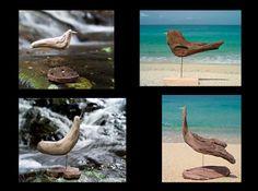 #流木 #流木アート #流木の鳥 #金澤尚 #屋久島アート  Birds of driftwood art-#3