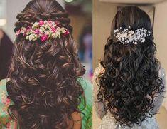 25 Simple and Latest Hairstyles for lehenga images in 2019 – Buy lehenga choli o… - verschiedene Frisuren Lehenga Hairstyles, Hairstyles For Gowns, Open Hairstyles, Latest Hairstyles, Casual Hairstyles, Celebrity Hairstyles, Wedding Hairstyles Thin Hair, Engagement Hairstyles, Bridal Hairstyles