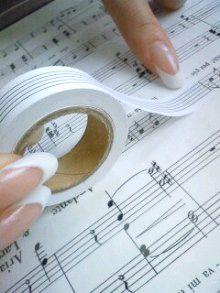 五楽線(ごらくせん)~音楽便利グッズ~ 貼って剥がせる五線テープ - アリアミュージックオフィス