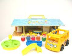 Vintage Fisher Price Little People Nursery School Playset on Etsy, $70.00