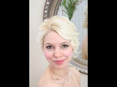 "Wedding hair video - romantic lowdo on fine hair with 5/8"" iron"