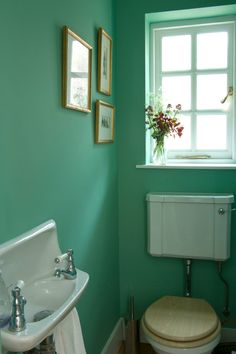 "Lovely ""Arsenic"" green from Farrow & Ball. I guess it's possibly more of a bathroom colour, but I'm thinking of it for my kitchen."