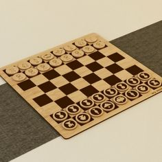 Laser engraved chess board made from bamboo.  Available from Ponoko for $138