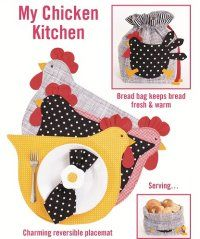 adorable chicken and eggs placemat pattern....