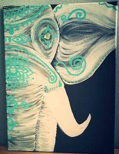 White Bohemian Elephant by GypsyTwistArt on Etsy