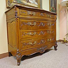 19th Century French Antique Walnut Commode