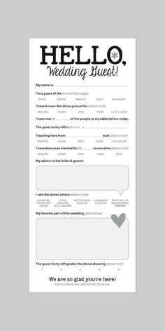 FUN WEDDING GAME Marriage Advice Card for by helloinklings