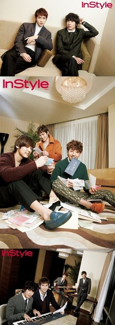 CNBLUE reenact their daily lives with 'InStyle' magazine