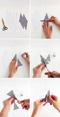 #DIY Pom Pom Paper Trees