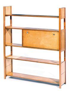 Anonymous; Beech Plywood Shelves by Bijnkorf, c1950.