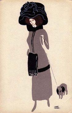 329. Ludwig Heinrich Jungnickel - Wiener Werkstatte postcard