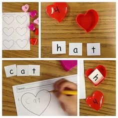 February building word center!! Fun for kindergarten!