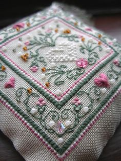 cross stitch pincushion