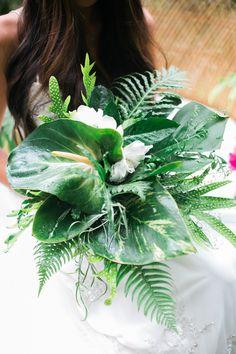 Leafy green bouquet