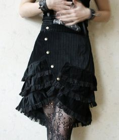 MASQ Steamtech Custom made for YOU cabaret skirt with ruffles in your colour choice, $100
