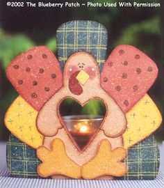 000234 (6) Thomas Turkey Votive Holders