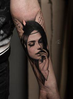 New tattoo sleeve geometric alex oloughlin 52 ideas Hd Tattoos, Girl Arm Tattoos, Feather Tattoos, Trendy Tattoos, Cute Tattoos, Body Art Tattoos, Portrait Tattoos, Amazing Tattoos, Tattos