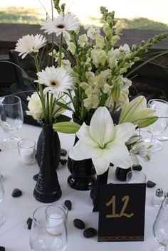 black n white wedding