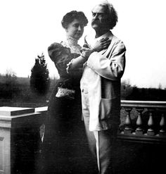 This is Helen Keller & her friend Mark Twain, Redding CT, early 20th century