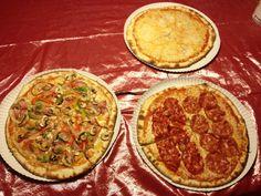 Pizza's kant en klaar voor de voordeur klaar gemaakt.