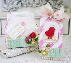 Easter Tag and Gable Box by Melissa Phillips for Papertrey Ink (February 2016)
