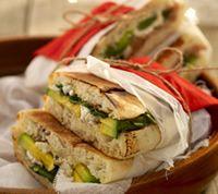avocado fetta & baby spinach on turkish bread