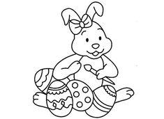 Conejitos de Pascua: fotos dibujos para colorear - Conejito de Pascua para pintar
