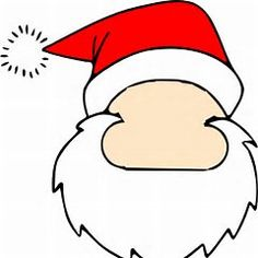 Santa Face Template Christmas Crafts For Kids, Christmas Deco, Xmas, Christmas Things, Christmas Ornaments, Santa Template, Face Template, Elf Face, Santa Face