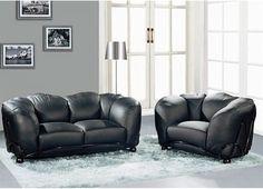 Dawn - Contemporary Black Leather Sofa and Chair Set https://www.euroluxfurniture.com/dawn-contemporary-black-sofa-and-chair they look comfy