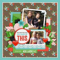 Looking Back by Lauren Grier and Kristin Cronin-Barrow Template Set 167 by Cindy Schneider KG Lego House font