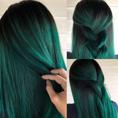 20 Vibrant Dark Hair Color Ideas to Try When it comes to hair color, trends don't really change, they shift which is the perfect way to describe the breakout looks we are seeing i., Hair Colour Style hair, 20 Vibrant Dark Hair Color Ideas to Try 2019 Vivid Hair Color, Vibrant Hair Colors, Green Hair Colors, Hair Dye Colors, Hair Color For Black Hair, Cool Hair Color, At Home Hair Color, Gray Hair, Blue Hair Streaks