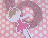 My Little Ballerina...Customized Party Cake Topper