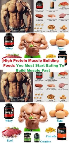 High protein muscle building foods you must start eating to build muscle fast gain muscle, Protein To Build Muscle, Build Muscle Fast, Gain Muscle, Muscle Mass, Muscle Protein, Fitness Workouts, Fitness Motivation, Workout Routines, Cardio Workouts