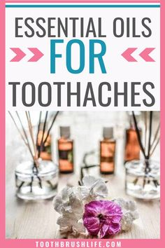 9 essential oils that will help with a toothache or teeth problems. Essential oils for dental problems. Get rid of a toothache fast with these 9 essential oils. Help gum disease and fight tooth pain with these remedies. Advice from a dental hygienist. #toothbrushlife #dental #toothache #essentialoils #dentalhygienist #teeth #oralhealth