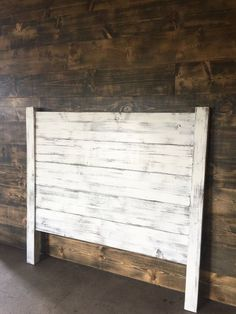 Shiplap Headboard distressed white by JNMRusticDesigns on Etsy