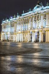 Night view of the State Hermitage in St. Petersburg