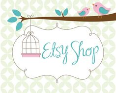 Etsy Banner Avatar Premade Shop Set  Etsy by Simply Creative Shop - Birds and Cage Design