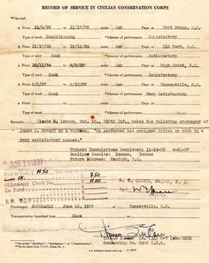CCC Discharge Papers for Lester Howard p2