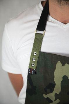 Delantal tela militar por JOOKCO en Etsy