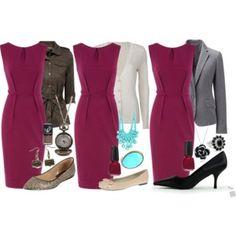 Teacher Outfits on a Teacher's Budget 28: Magenta Shift Dress