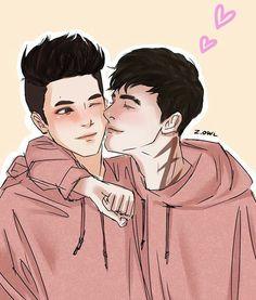 Malec in matching sweaters, its super cute!