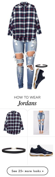 """""""Untitled #1538"""" by kelly213 on Polyvore featuring Monki, NIKE and Humble Chic"""