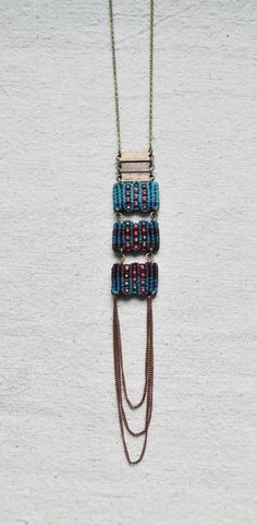Triple Circuit Necklace turquoise