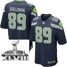 Nike Seattle Seahawks 89# Doug Baldwin Blue 2014 Super Bowl XLVIII NFL Jerseys