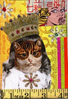 Her Royal Catness #aceo #zibbet
