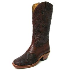 I LOVE THESE!!!!!!!! Boulet Tooled Square Toe Boots $259.95