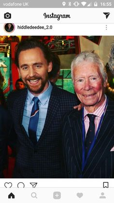 Tom Hiddleston + His Father, James Norman Hiddleston - Thor Raknorak ' Film Premiere - 11 October 2017
