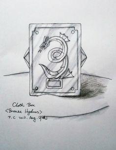 My paintings——<Saint Seiya>Hand painted.My own design Saint---Hydrus Bronze Saint Jormangund. 2015.Aug.29晚完成[自己人设]水蛇座青铜乔曼戈德[水性笔+水彩笔.圣衣箱造型]。水蛇座套图设计完成,我下一个要准备人设的圣斗士是南鱼座青铜~~